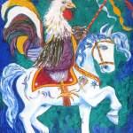 331 - Il Gallo a cavallo 70x100