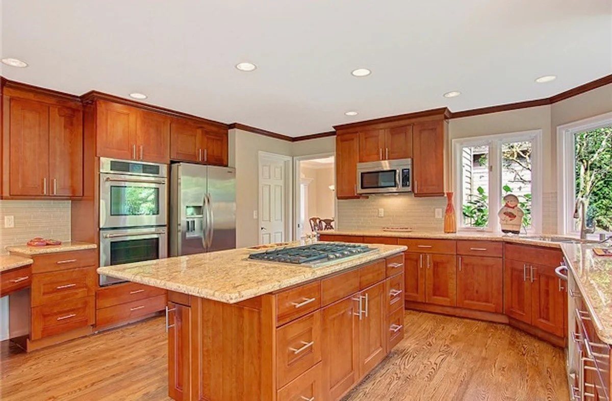 american cherry double shaker cherry wood cabinets kitchen