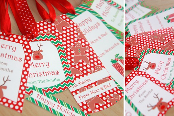 Personalized Christmas Gift Tags by Pixiebear Party Printables