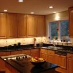 Cocina con luces empotradas