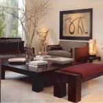 decoración de living marron