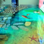 moderno piso vinilico de diseño marino