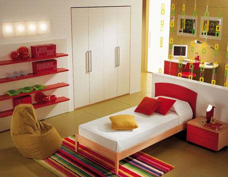 Alfombra de colores para dormitorio juvenil