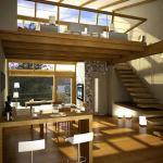 Moderno loft de doble altura