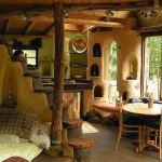 Interior de casa de adobe