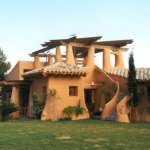 Casa de adobe moderna