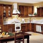 Elegante diseño de cocina rústica
