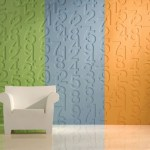 Paneles decorativos para paredes con números