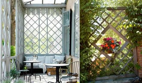 Paneles y biombos decorativos para jard n - Paneles de madera para jardin ...