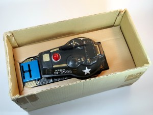 Masudaya – Battery Powered Army Tank M-99 – Tin Toy – Box Inside