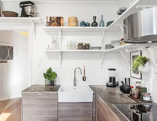 Les petites surfaces du jour la cuisine prend toute sa for Deco cuisine place laurier