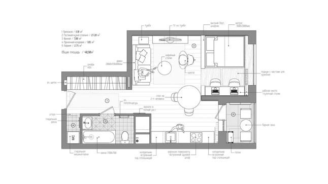 Neutradecor vivir en 40 metros cuadrados for Casa de 40 metros cuadrados