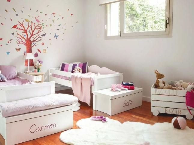 Decoration Chambre Mauve Et Gris : Comment aménager une chambre pour deux filles  PLANETE DECO a homes