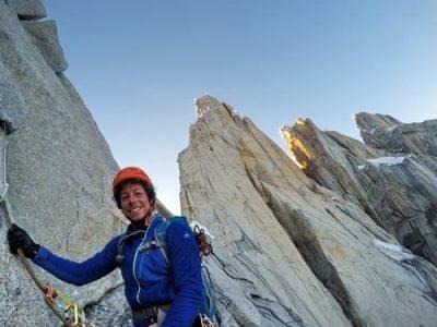 Silvan Schüpbach all smiles during the descent off Cerro Torre, climbed on 30-31 January 2016 together with Matteo Matteo Della Bordella via the SE Ridge Compressor route.