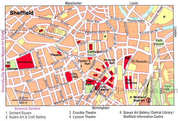 map sheffield centre