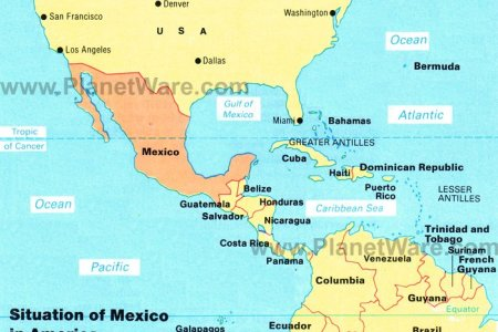 pics photos map of south america and mexico