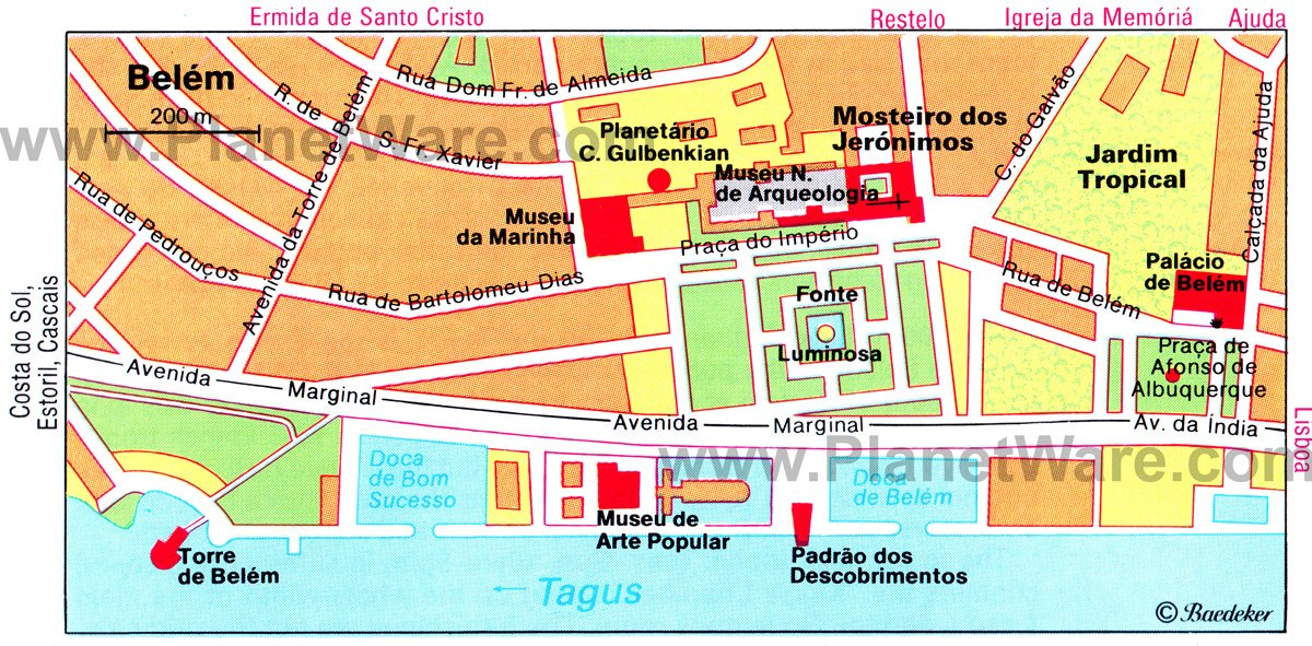 map belem