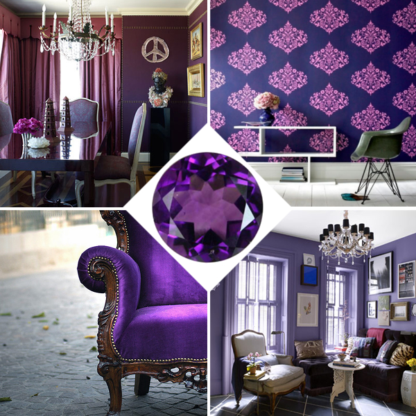 amethyst home decor fly me to the moon trend alert jewel toned color palette