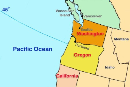 gallery for > pacific northwest region map