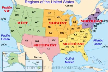 Map Of United States Regions - Map us regions
