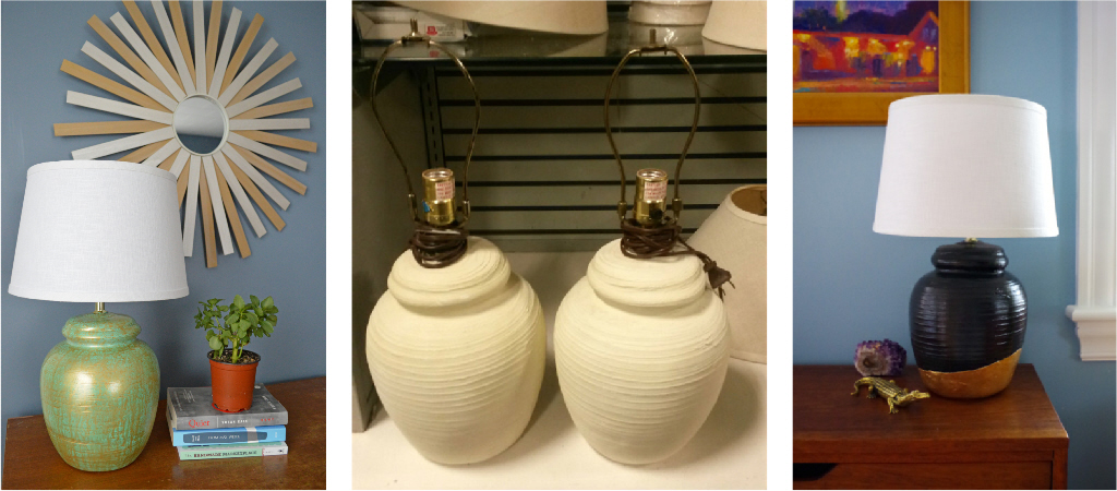 Thirft Store Lamp Makeover - Before and After - Plaster & Disaster