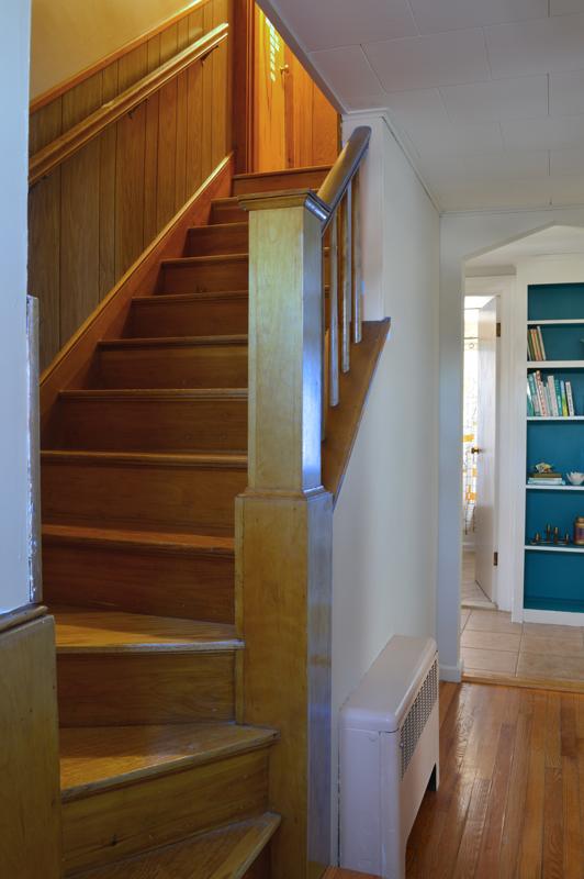 Dark stairwell -- Plaster & Disaster