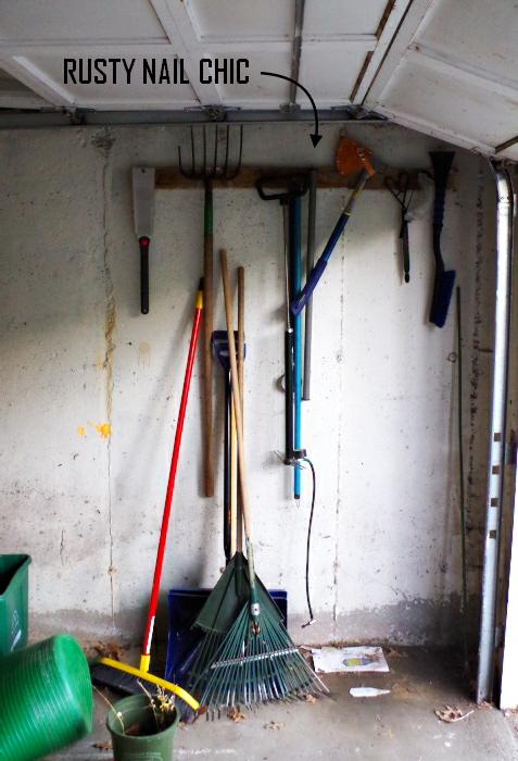 Garage Before - Garden Supply Storage - Plaster & Disaster