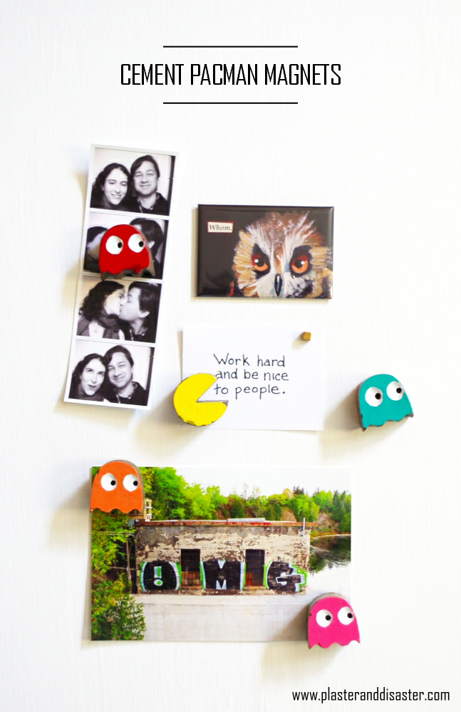 Cement Pacman Magnets - Plaster & Disaster