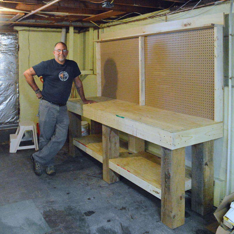 To Build a Workbench: Part III – Plaster & Disaster