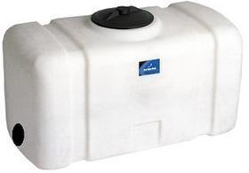 50 Gallon Square Plastic Utility Tank