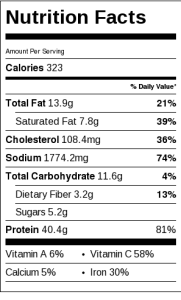 Spicy-Ground-Beef-Nutrition-Label