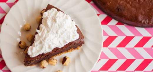 Double Chocolate Hazelnut Butter Fudge Cake - www.platingpixels.com
