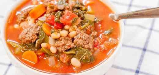 Hearty Tomato Basil Beef Stew recipe - www.platingpixels.com