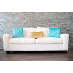 Small Crop Of White Leather Couch