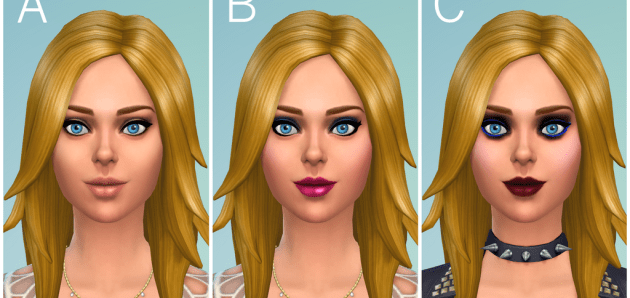 Make-Up preview of The Sims 4!