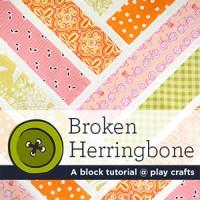 Broken Herringbone   A block tutorial @ play crafts