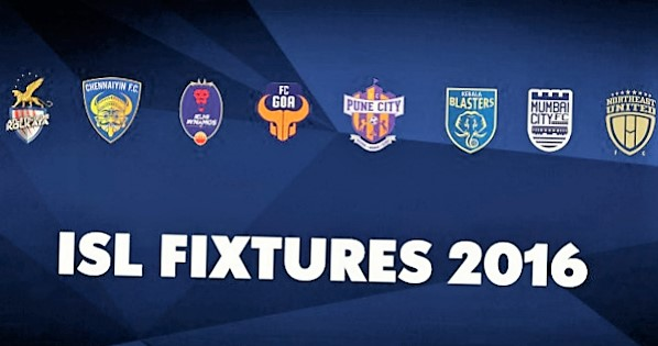 ISL 2016 Full Schedule |  Indian Super League 2016 Fixtures And Team News