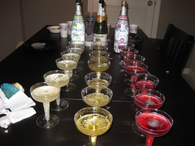 New Year's Eve Sparkling Cider Bar