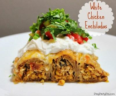 White chicken enchiladas by playpartypin.com