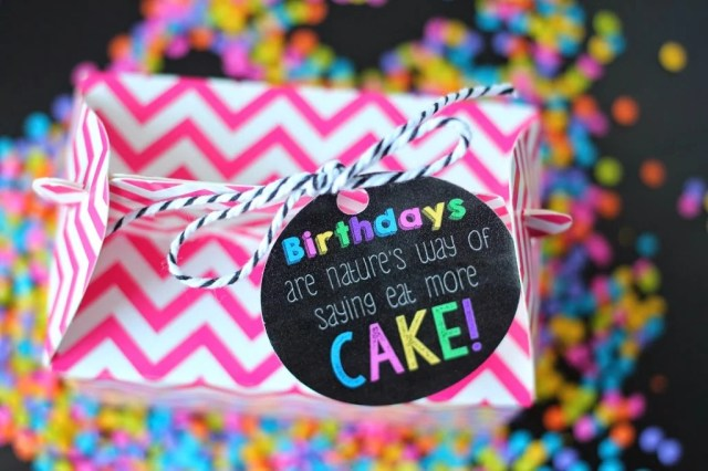 Love the idea of giving a friend a cupcake with this cute free printable birthday tag