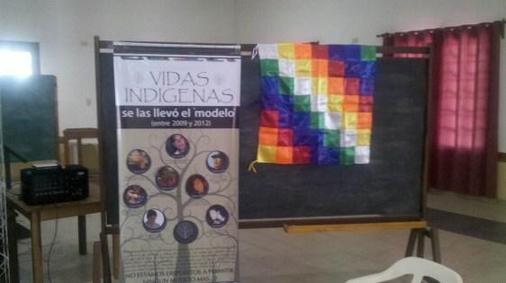 Afiche en conmemoración de los muertos indígenas del periodo K.