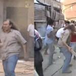 Comunero K en los incidentes del comedor en Chacarita