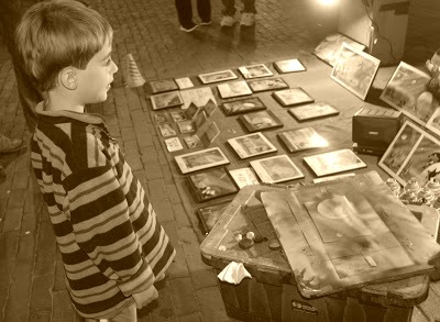 Observing art creation with preschoolers