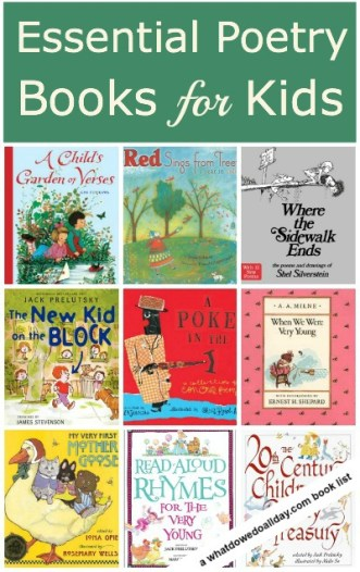 9 books of poetry for kids. These poems are ones kids will love!