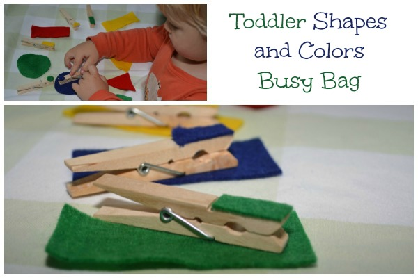 Busy Bag for Toddlers: Shapes and Colors!
