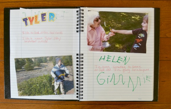 kid created family journal to learn about their family