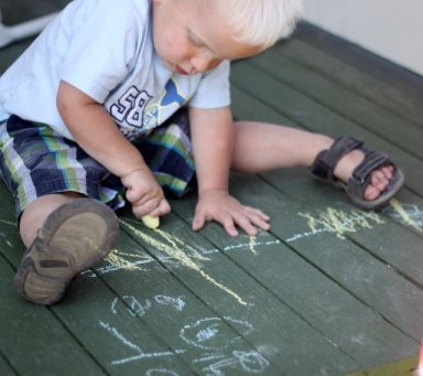 Mark making for toddlers