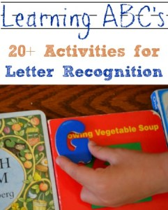 20+ activities for letter recognition