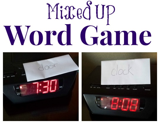 Mixed Up Word Game: Learn the words around the house!!
