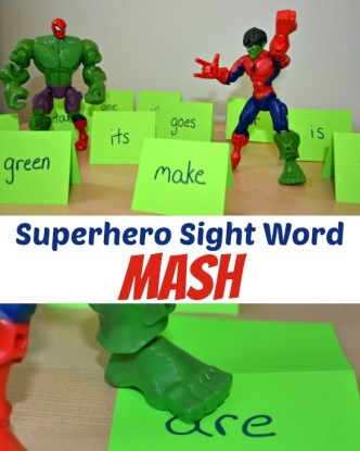Practice Sight Words with Superheroes!